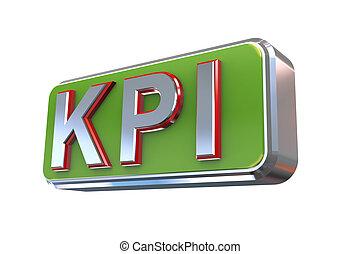 3d design of kpi - key performance indicator