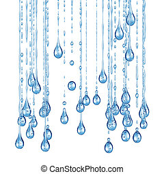 3D detailed illustration of a drop of water.