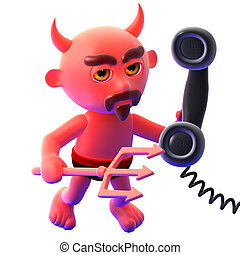 3d Devil answers the phone