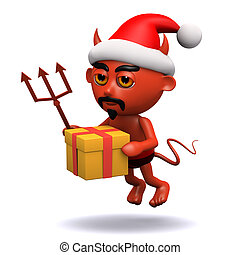 3d Devil gets in the Christmas spirit
