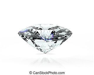 3d diamond in a white background
