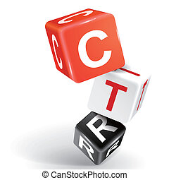 3d dice illustration with word CTR