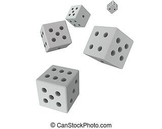 3d, dices, -, grigio