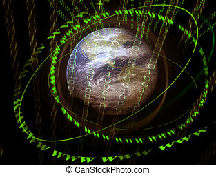 3D digital world - digital universe