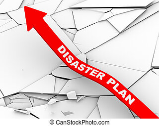 3d disaster plan rising arrow