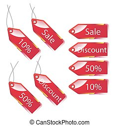 3d discount labels set