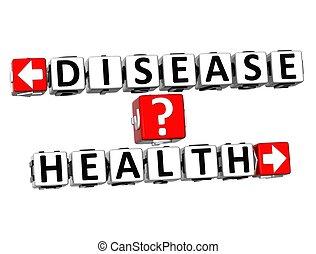 3D Disease Health Button Click Here Block Text - 3D Disease...