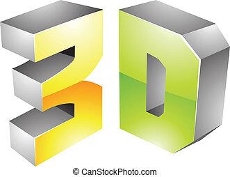3d Display Technology Symbol