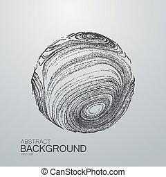 3D distorted sphere