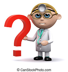 3d Doctor has a question mark