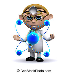 3d Doctor studies atoms