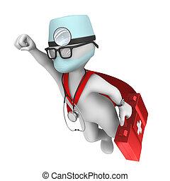 3d doctor. Super hero.