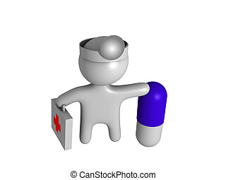 3d doctor with capsul