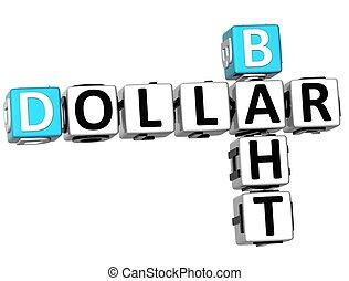 3D Dollar Baht Crossword