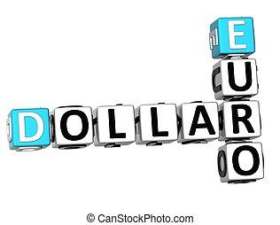 3D Dollar Euro Crossword