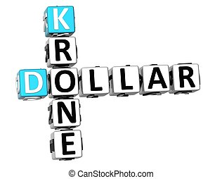 3D Dollar Krone Crossword