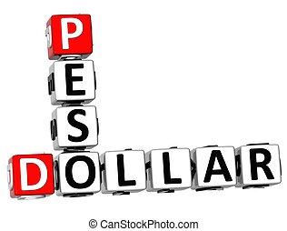 3D Dollar Peso Crossword
