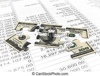3d dollar puzzle peaces