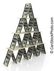 3d dollar pyramid