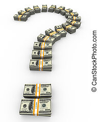 3d dollar question mark