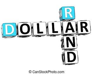 3D Dollar Rand Crossword