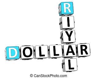 3D Dollar Riyal Crossword