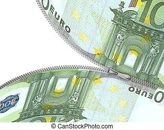 dollar with zipper