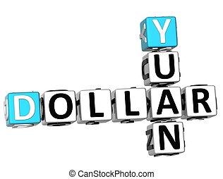 3D Dollar Yuan Crossword