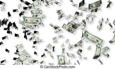 Dollars falling - 3d Dollars falling