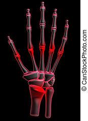 3d, dolore, mano umana