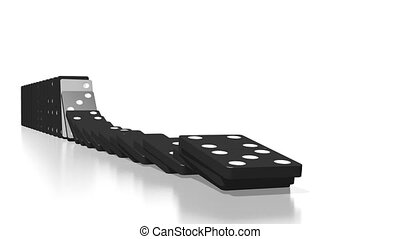 3D domino effect animation