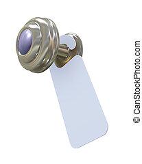 3d door handle blank sign