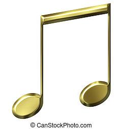 3d, dorado, octavo, notas