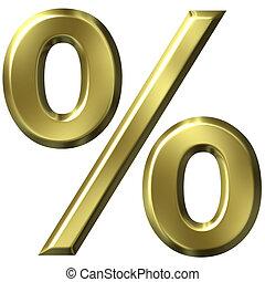 3d, dorado, porcentaje