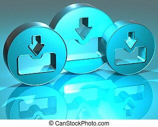 3D Download Blue Sign