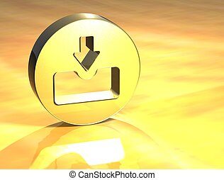 3D Download Gold Sign