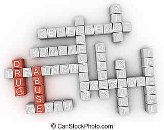 3d Drug Abuse word cloud concept