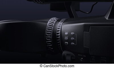 3D dual-lensed camcorder - 3d abstract render of...