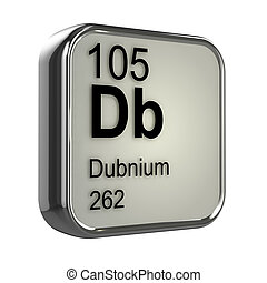 3d Dubnium periodic table element - 3d render of Dubnium...