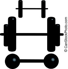 3d dumbbells isolated on white background. Vector illustration.