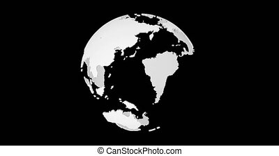 3d Earth animation with alpha channel.