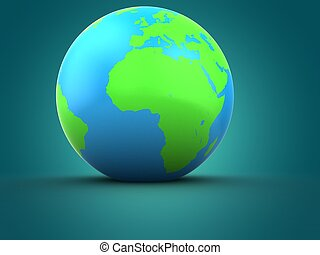 3d earth globe with