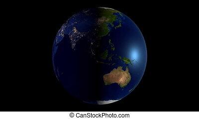 3d, earth/, mapa mundial, com, tudo, continentes