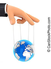 3d earth puppet concept