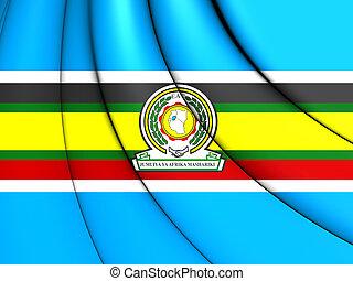 East African Community Flag - 3D East African Community Flag...