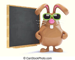 3d Easter bunny teaches the class