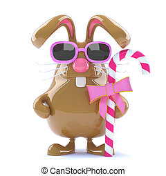 3d Easter bunny with candy