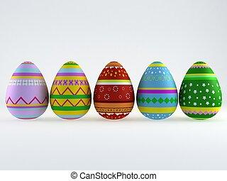 3d easter eggs - 3d render of easter eggs