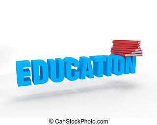 3d, educación, libros