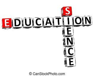 3D Education Science Crossword